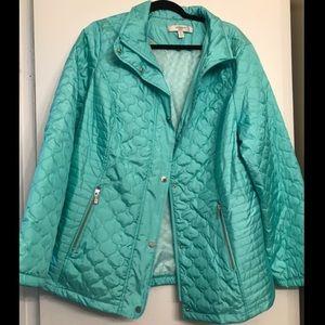 Liz Claiborne Turquoise Puffer Jacket size XL